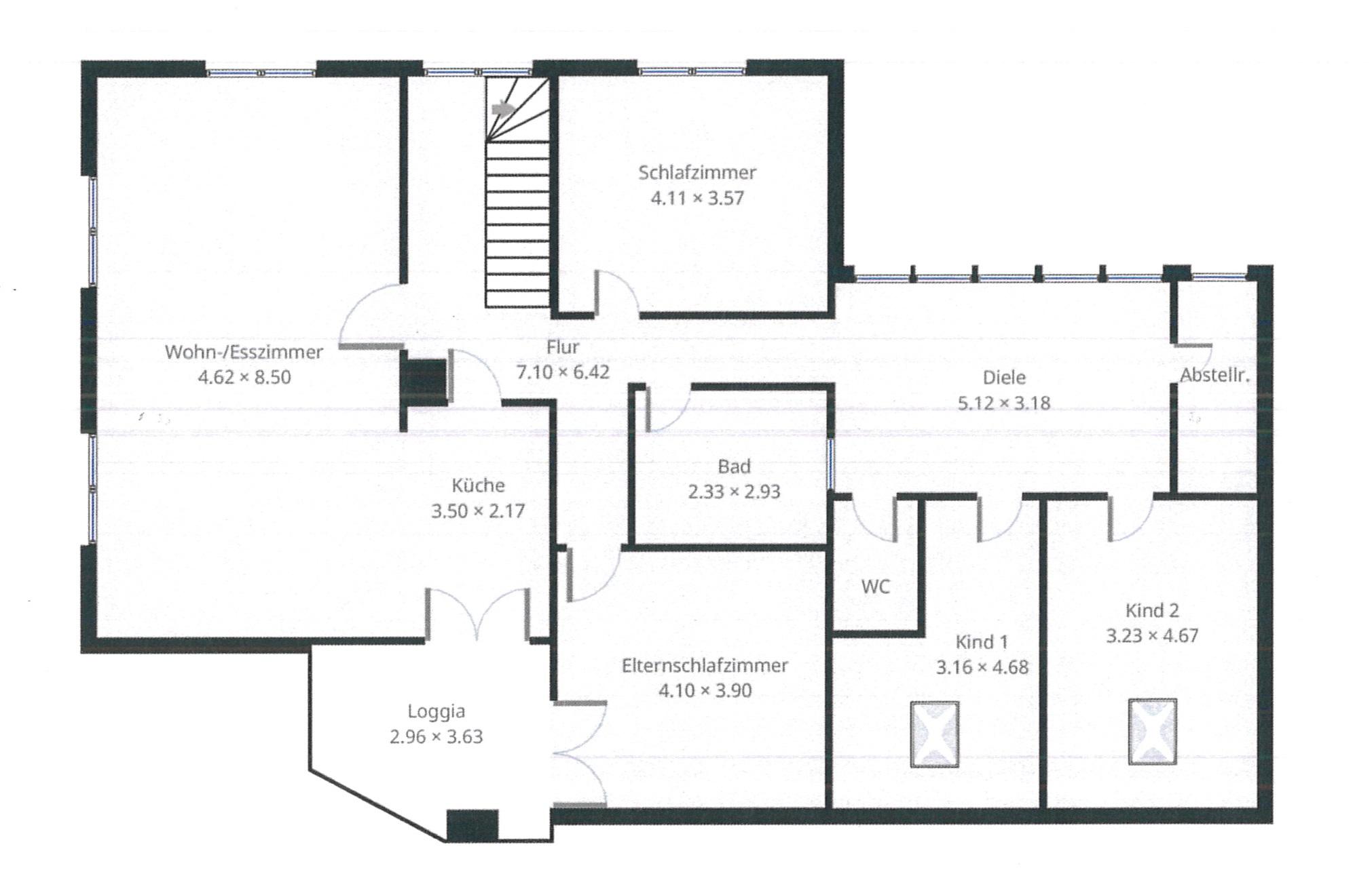 Grundriss Obergeschoss neu